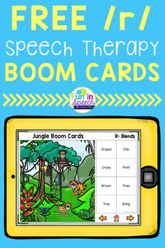 These free speech therapy Boom Cards are great for articulation, grammar, vocabulary, and receptive language goals. The interactive speech therapy activities are great for teletherapy and distance learning. These target prevocalic R and R- blends. Articulation Therapy, Articulation Activities, Speech Therapy Activities, Speech Language Pathology, Language Activities, Speech And Language, Listening Activities, Phonics, French Language Learning