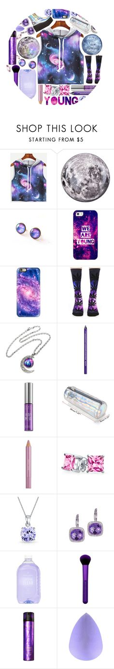 """""""flytotheuniverse"""" by scheherazadee ❤ liked on Polyvore featuring Seletti, Casetify, HUF, NYX, Urban Decay, Estée Lauder, Bling Jewelry, Dabakarov, Prince & Spring and Kérastase"""
