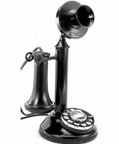 Grandpa Lee had a phone like this.  1920 Western Electric Candle Stick Phone