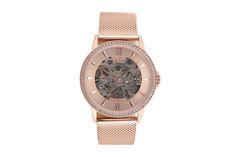 Venda Alexander Milton / 28423 / Mulher / Aço / Relógio automático de aço Dourado rosa