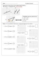 Vectors Matching Activity (Adding, Subtracting Vectors ...