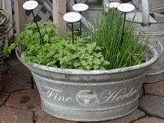 idea for a herb garden container (just a pic)