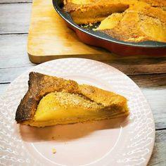 Mandulás körtés pite, glutén és tejmentesen Cornbread, French Toast, Gluten, Pie, Breakfast, Ethnic Recipes, Food, Millet Bread, Pinkie Pie