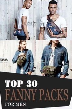Fanny packs are also versatile! Each type serves different kinds of purposes that match everyone's needs and demands in a portable carrier! Leather Bum Bags, Leather Fanny Pack, Leather Men, One Shoulder Backpack, Mens Style Guide, Denim Bag, Waist Pack, Men Casual, Leather Working