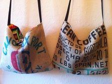 coffee bean gunny sack slouch bags