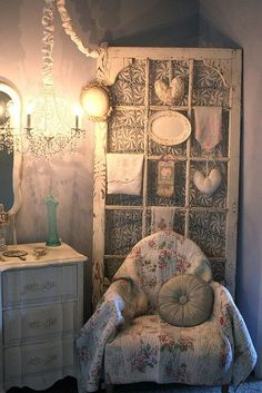 another use for old French door