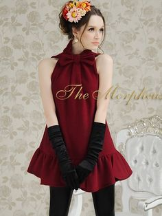 Morpheus Boutique  - Burgundy Celebrity Bow Ruffle Sleeveless Pleated Dress, $79.99 (http://www.morpheusboutique.com/products/burgundy-celebrity-bow-ruffle-sleeveless-pleated-dress.html)