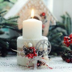 Новогодний подсвечник - Скрапбукинг (бумажный) - Babyblog.ru