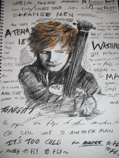 Quicksketch of Ed Sheeran +The A Team lyrics by joannatu on DeviantArt