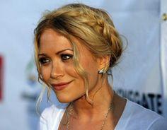 braids around the head, do it like the Olsen sisters! #hairinspiration, blonde