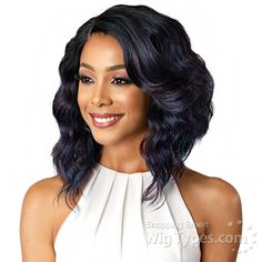 Bobbi Boss Synthetic Swiss J Part Lace Front Wig - MLF181 DENNA [14048]
