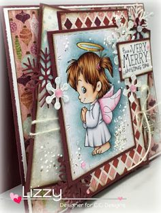 Color Kitty: Praying Twila, C.C. Designs Rubber Stamps