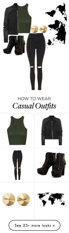 """""""Casual"""" by karleesandra1 on Polyvore featuring Topshop, Rick Owens and Eddie Borgo"""
