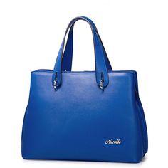 Bolsas de mano para dama Piel azul amarillo Shopidonea Importado