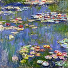 When they're in front of me, this is really what they look like inside my mind. --Pia (Claude Monet. Water Lilies (1916).)