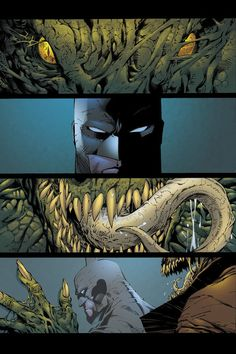 Batman: Hush: Batman takes on Killer Croc..I actually Own this issue....the artwork is amazing.