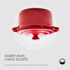 Cleerk.com - facebook campaign - subject #COCOTTE #advertising #cleerk #ecommerce #revolution #soup #red