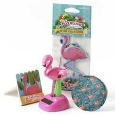 Fun Pink Flamingo Toilet Brush and Holder-TOB01