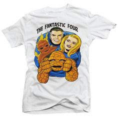 The Fantastic Four Comic Book Super Hero Action Movie Retro Cartoon TV T-Shirt  in Clothing, Shoes, Accessories, Men's Clothing, T-Shirts | eBay!