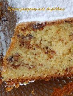 Το κέικ της αμερικάνας θείας! Όταν η θεία Φ. μας έφτιαξε αυτό το κέικ για πρώτη φορά πριν από πολλά πολλά χρόνια, δεν βρίσκαμε ούτε μαύρη ζάχαρη ούτε καρύδια πεκάν εδώ. Η συνταγ… Greek Sweets, Greek Desserts, Greek Recipes, Pastry Recipes, Sweets Recipes, Cake Recipes, Sweet Loaf Recipe, Cake Cookies, Cupcake Cakes
