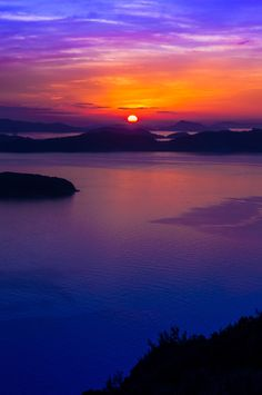 Sunset in Seto Inland Sea, Japan