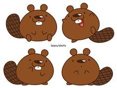Chibi Beaver by Daieny.deviantart.com on @DeviantArt