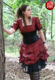 Satin under bust corset 36 from Gothic Clothing UK by Drac-In-A-Box