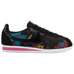 low priced 59fe7 64dbc Nike Classic Cortez - Women s - Black Pink Foil White Black