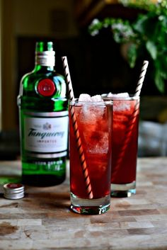 Pomegranate Gin and Tonic.