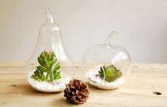 2Pcs  Apple/ Pear Glass Vase   Home Decoration on DaWanda.com