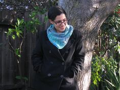 Zigzag Cowl in Teal by MyPennysPurls on Etsy