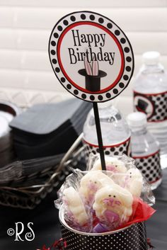 I want to share a fun MAGIC PARTY with you! Fellow Etsian, Rene´ Roberts from Renee's Soirees hosted a fun lit. Happy Birthday Tag, Magic Birthday, Birthday Tags, Magician Party, Soiree Party, Magic Theme, A Kind Of Magic, Bar Mitzvah, Party Printables