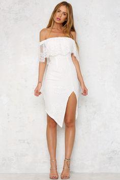 HelloMolly | Turning Heads Midi Dress White - Dresses