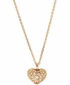 Fossil Rose Gold-Tone Crystal Heart Pendant Necklace Want this to match my earrings!!