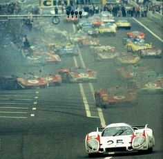 Start of 24 Hours of Le Mans, 1970