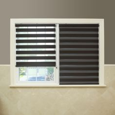 Aurora Home Premium Fabric Chocolate Sunshut Duo Blackout Window Shade x 64 - 16 - 29 Inches), Brown (Polyester) Window Blinds & Shades, Blinds For Windows, Curtains With Blinds, Window Coverings, Window Treatments, Basement Windows, Small Windows, Blackout Windows, Window Design