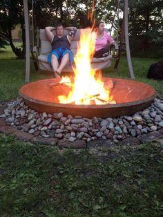 Crusher Cone Fire Pit