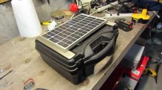 Build a high quality PORTABLE Solar Generator For $150