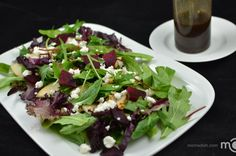 Beet garden salad with goat cheese, such a delicious salad