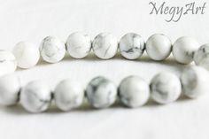 White Howlite Bracelet 10mm, Magnesite, Mens Beaded Bracelet, Bracelet for Women, White Gemstone Bracelet, Magnesite Bead Bracelet by Megyartbg on Etsy
