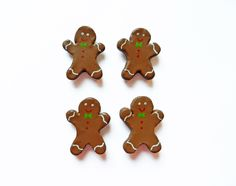 Handmade gingerbread men magnets  https://www.etsy.com/listing/208144523/gingerbread-men-magnets-polymer-clay