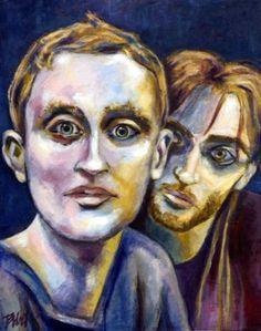 """Saatchi Art Artist Clara de Bobes; Painting, """"The Peter's guys"""" #art Bobe, Saatchi Art, Original Paintings, Guys, Artist, Portraits, Paintings, Girls, Artists"""