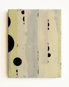 'Subornament' (2011) by North Carolina-based American artist Celia Johnson. Encaustic & alkyd on wood panel, 10 x 8 in. via the artist's site