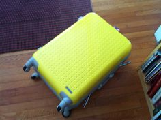 My glorious yellow suitcase has arrived! $207 on sale by Hideo Wakamatsu.