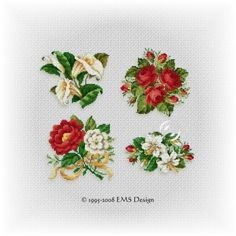"Set"" Floral Collection"" - Vol. 1 (4 motifs)"
