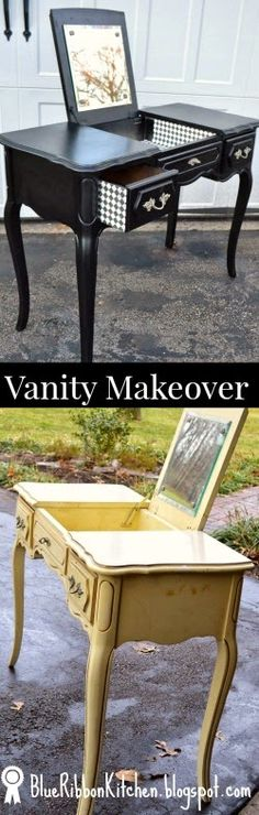 Blue Ribbon Kitchen: THRIFT SHOP RESCUE: A vanity before and after