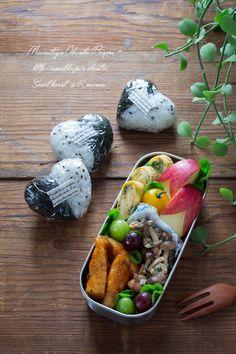 こんばんは。あ~るママです。本日のお弁当は息子くん用のお弁当。バレンタイン前なので、ハートのおにぎりを握りました。^^Today's Menu・ハートおにぎり…