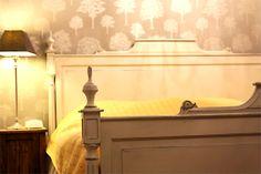Helmenharmaa Eleonoora-sänky, gustavian gray king-size bed