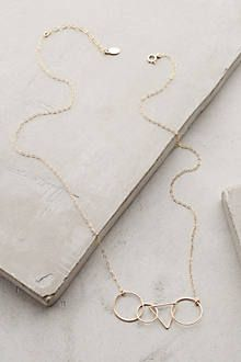 geometric delicate gold necklace   anthroplogie.com #anthrofave