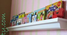 See how you can frugally make your very own bookshelves out of rain gutters!!